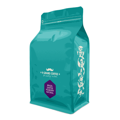 9 Grams Coffee Brazil Santos Peaberry Natural