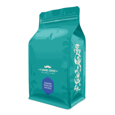 9 Grams Coffee Ethiopia Keffa GR1 Natural