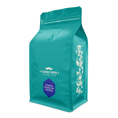 9 Grams Coffee Ethiopia Sidamo GR1 Natural